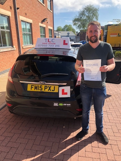 Liam Todd passed first time only 2 minors