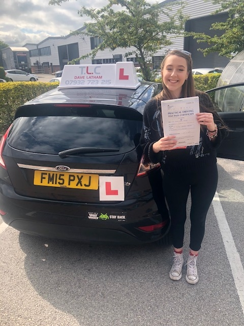 jess bridges passed first time with no minors
